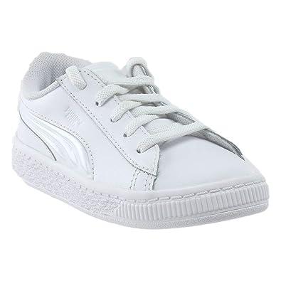 PUMA Womens Basket Classic 3D FS Infant Athletic   Sneakers White 0790c1d53