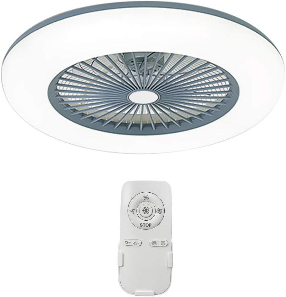 Lixada Ventilador de Techo con Lámpara Moderna 180V-265V con Aplicación Soporte de Control de Teléfono Móvil Conexión BT para Dormitorio Sala de Estar Comedor
