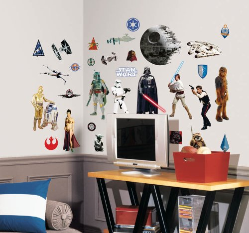 Roommates Stickers (Roommates Rmk1586Scs Star Wars Classic Peel And Stick Wall Decals)