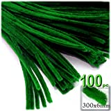 The Crafts Outlet Chenille Stems, Pipe Cleaner, 12-inch (30-cm), 100-pc, Emerald Green