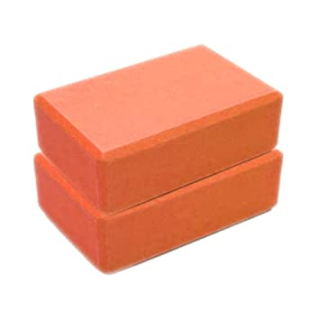 Yoga Block 2 Pack, High Density EVA Foam Block to Support Deepen Poses, Improve Strength and Aid Balance and Flexibility - Lightweight Yoga Bricks ...