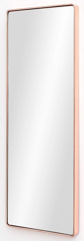 FineBuy Wandspiegel FB13965 Kupfer 36 x 100 x 4 cm Spiegel Modern Rahmen Groß | Hängespiegel Schlafzimmer Rechteckig | Garderobenspiegel Flur zum Aufhängen Eckig | Design Dekospiegel Wand Wohnzimmer