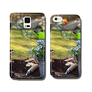 Planting time in the spring: Vergissmeinnicht and hyacinth flowers cell phone cover case Samsung S6