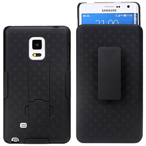Galaxy Note 4 Case - Shell Holster Combo Case for Samsung Galaxy Note 4 with Kick-Stand & Belt Clip (At&t, Verizon, T-Mobile & Sprint) - Black