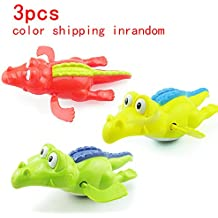 3pcs Float Pool Wind Up Baby Bath Toys,Cool Carton Water Animals Baby Pool Bathtub for Children Kids Bath Time,Wind Up Crocodile Clockwork Play Swimming Alligator for Toddler Baby Shower Present