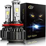 Cougar Motor LED Headlight Bulbs All-in-One Conversion Kit - 9005-7,200 Lm 6000K Cool White CREE - 3 Year Warranty