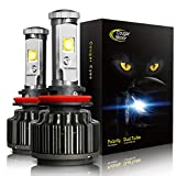 #6: CougarMotor LED Headlight Bulbs All-in-One Conversion Kit - H11 (H8, H9) -7,200Lm 6000K Cool White CREE - 3 Year Warranty