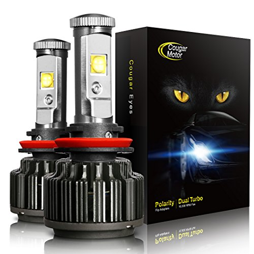 (CougarMotor LED Headlight Bulbs All-in-One Conversion Kit - 9005-7,200 Lm 6000K Cool White CREE - 2 Year Warranty)