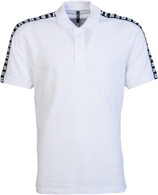 Versace - Polo - para Hombre Blanco Blanco Large: Amazon.es: Ropa ...