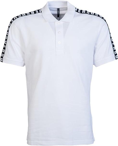 Versace - Polo - para Hombre Blanco Blanco Large: Amazon.es ...