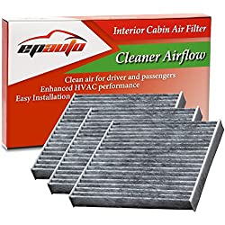 3 Pack - EPAuto CP285 (CF10285) Replacement for Toyota/Lexus/Scion/Subaru Replacement Premium Cabin Air Filter includes Activated Carbon
