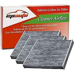 3 Pack - EPAuto CP285 (CF10285) Replacement for Toyota/Lexus/Scion/Subaru Replacement Premium Cabin Air Filter includes Activated Carbon