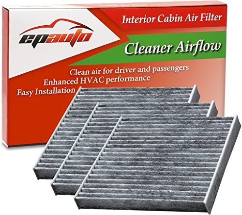 3 Pack - EPAuto CP285 (CF10285) Toyota / Lexus / Scion / Subaru Replacement Premium Cabin Air Filter includes Activated Carbon