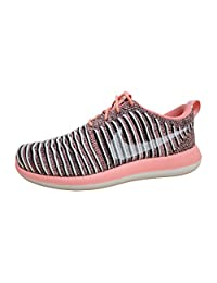 Nike Womens Roshe Two Flyknit Running Trainers 844929 Sneakers Shoes (US 10, bright melon white black 801)