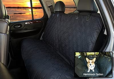 Pet Krewe Pet Car Seat Cover With Seat Anchors for Cars, Trucks, and Suv's - WaterProof & NonSlip Backing