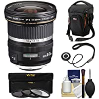 Canon EF-S 10-22mm f/3.5-4.5 USM Ultra Wide Angle Zoom Lens with Case + 3 Filters + Kit for EOS 70D, 7D, Rebel T5, T5i, T6i, T6s, SL1 DSLR Camera