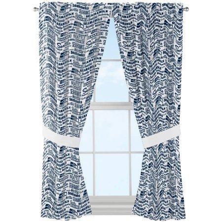 NFL Seattle Seahawks Anthem Window Curtain Panel 52620505 Set Of 2