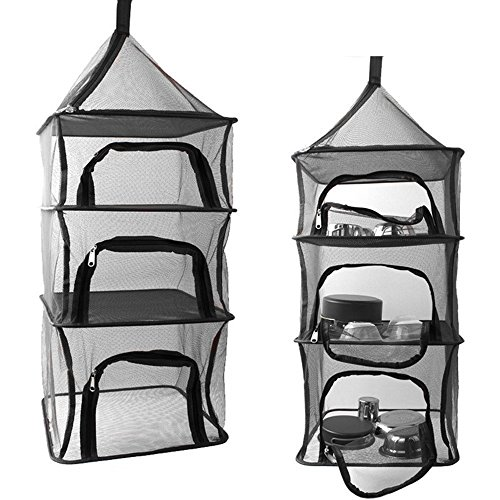 SUNKY Hanging Dryer Net Storage, 3 Layers Drying Foldable Ra