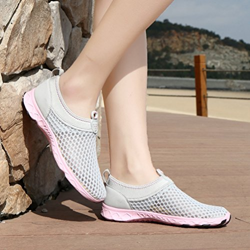 Chaussures Mesh L'air D' Aqua Eau Respirant Qianliuk Rose Plage Femme 1nHnYvRqw