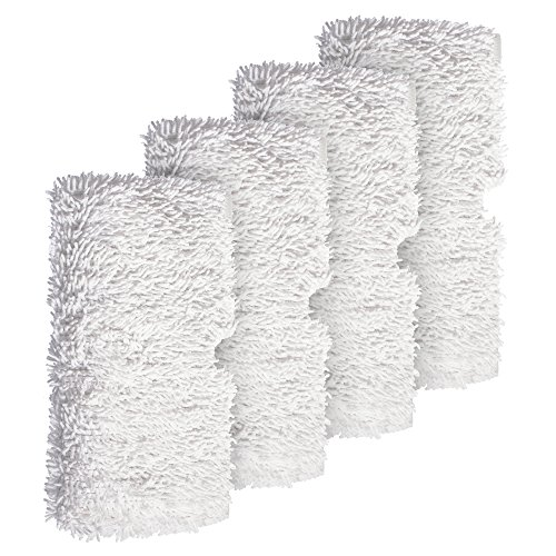 Shark Steam Pocket Mops,Household Washable Microfiber Mop Pads Cleaning Pads Replacement for S3500 series, S3501, S3601, S3550, S3901, S3801, SE450, White, 4Pcs (Shark Professional Steam Pocket Mop Model S3601)