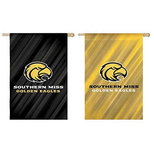 Fan Essentials NCAA 28 in. x 44 in. Two-Sided Suede House Flag (Southern Miss Golden Eagles)