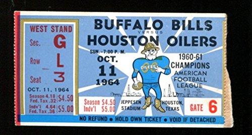 1964 Buffalo v Houston Oilers Ticket AFL 10/11/64 Bills Champs (1964 Buffalo Bills)