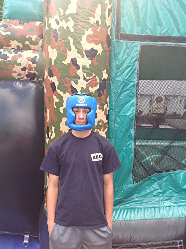 Replacement Blue Boxing and Jousting Helmet and Headgear with Reinforced Seams for Interactive Inflatable Fighting Arena or Ring Games, Universal Size by TentandTable (Image #3)