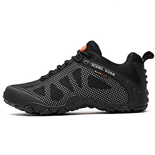 top Mesh Outdoor Off Black Shoes Footwear Ladies Sports Low Lace up Camping Breathable XIANG Sneakers GUAN grey Women's Running Trekking Road Hiking Casual qpwIqTEz