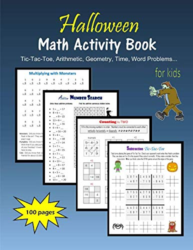 Halloween Math Activity Book for kids -