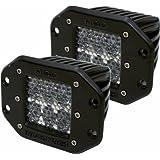 Rigid Industries 51251 D2 60° Lens LED LightFlush Mount, (Set of 2)