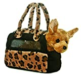 : Aurora World Fancy Pals Plush Chihuahua Purse Pet Carrier