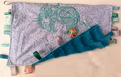 - ELEPHANTS ~ Cuddle Blanket with Ribbons by Abuela Chachy's