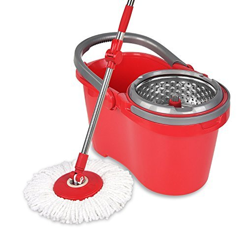 LIGHTENING DEAL! TOP RATED SPINNING MOP BUCKET SET NOW ONLY $26.55!