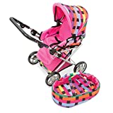 Playwell Triple Treat Pram Doll Stroller Checkered