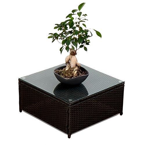 XINRO-1er-Polyrattan-Lounge-Tisch-Gartenmbel-Hocker-Rattan-durch-andere-Polyrattan-Lounge-Gartenmbel-Elemente-erweiterbar-InOutdoor-handgeflochten
