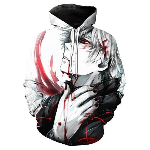 3d De Capuchon Shier Blanc Tokyo Shanghai Chandail Ghoul Imprimé À Numérique Y7xwtq8