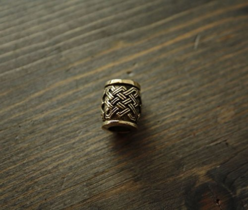 Beard bead ring in viking celtic nordic style bronze casted FREE SHIPPING Bronze Norse Viking Celtic Beard Bead Ring Dwarven Dreadlock Pirate Medieval Hair Bead