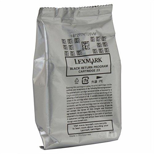 Wholesale Genuine Lexmark #23/18C1523 Black Ink Cartridge in Genuine Original Factory Sealed Plastic Packaging