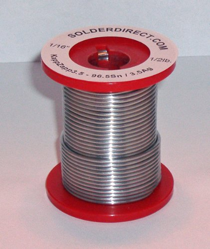 KappZapp3.5S 1/16'' SOLID Silver Solder for Copper, Brass & Stainless Steel (medium)