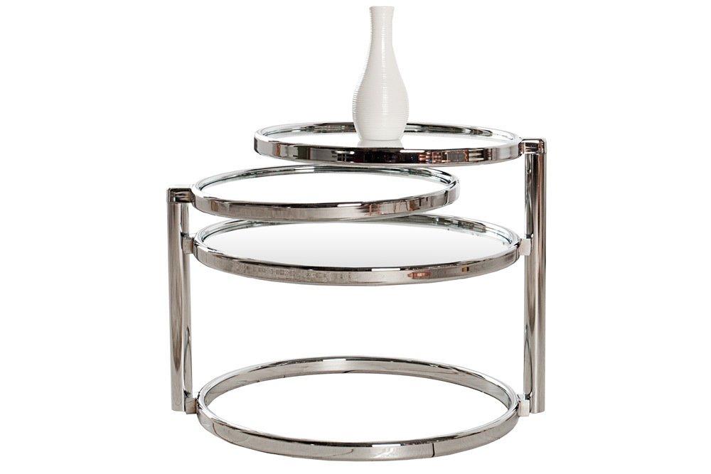Amazing Beistelltisch   Art Deco   Chrom/Glas   Mit 3 Ebenen: Amazon.de: Küche U0026  Haushalt