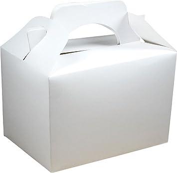 German Trendseller® - 12 x cajitas de cumpleaños ┃blanco ┃con aso para llenar ┃para regalo ┃fiestas infantiles┃ idea de regalo┃cumpleaños de niños┃ 12 ...