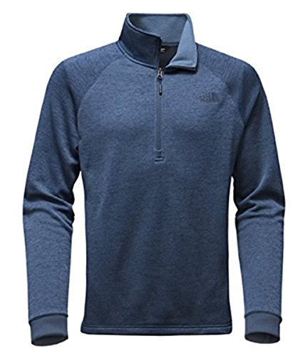 The North Face Men Norris Point 1/4 Zip Sweater - Shady Blue Heather (S)