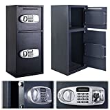 Eight24hours Double Door Digital Safe Depository Drop Box Safes Cash Office Security Lock New - R7