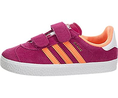 fcdcec07cce Amazon.com: adidas Gazelle 2 CF (Toddler) Pink/White: Shoes