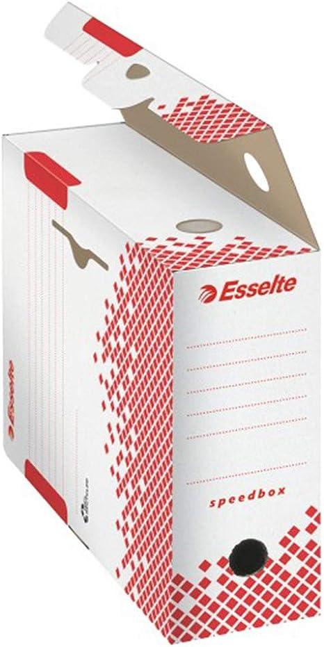 5 Etoiles ETL – 930760 Cajas de archivo, lomo 10 cm montaje automático, papel kraft, 10 unidades), color blanco: Amazon.es: Oficina y papelería