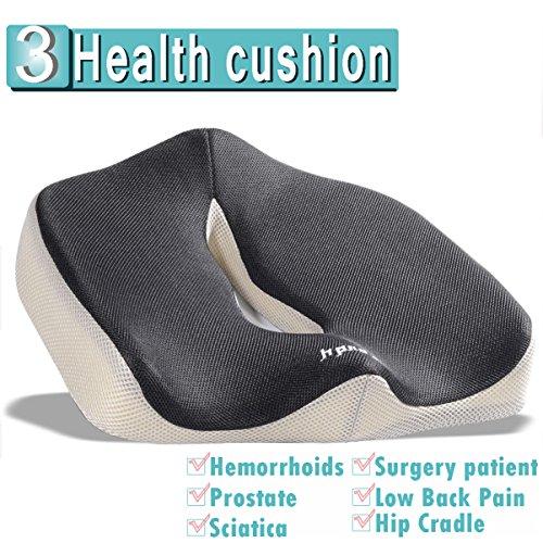 iCoudy Memory Foam Seat Cushion, Seat Cushion, Car Seat Cushion, Chair Cushion, (Foam Unit)