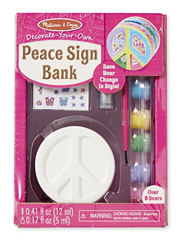 - Melissa & Doug Decorate-Your-Own Peace Sign Bank Craft Kit