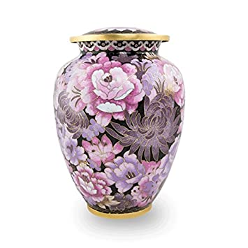 Cloisonne Blush Pink Cremation Urn