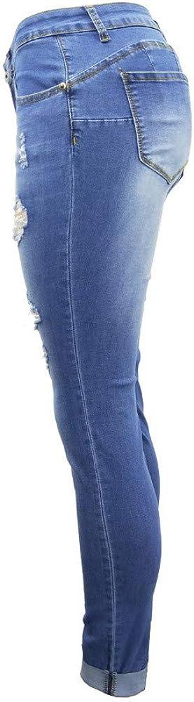 Trisee Damen Jeans Skinny Bleistifthose zerrissen Trousers Hohe Taille Freizeithose Gro/ße Gr/ö/ßen Trousers Gerades Bein Jeans Elastisch Stylisch Outdoorhose