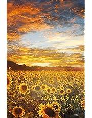 Sunflower: Flower Journal Notebook (110 Pages, 6'' x 9'')